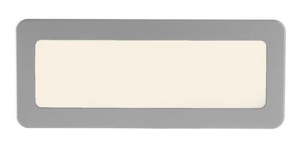 KapegoLED Wandaufbauleuchte, Crucis, inklusive Leuchtmittel, Neutralweiß, Grau