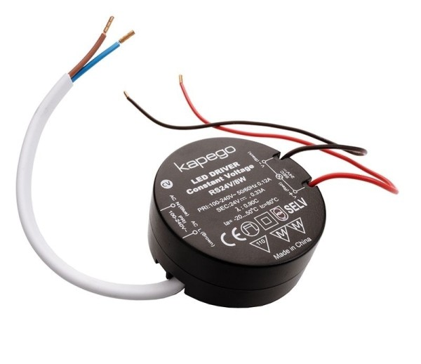 Deko-Light Netzgerät, ROUND, RS24V/8W, Kunststoff, Schwarz, 8W, 24V