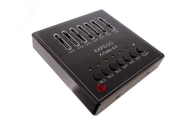 Deko-Light Controller, DMX Wandsteuerung X-Fade-6 II, Polycarbonat, Schwarz-matt, 12-24V, 86x86mm
