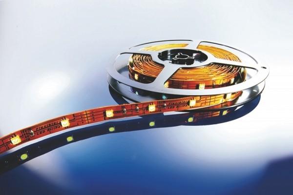 Flexibler LED Stripe, 5m Rolle warmweiß 12V, IP 20