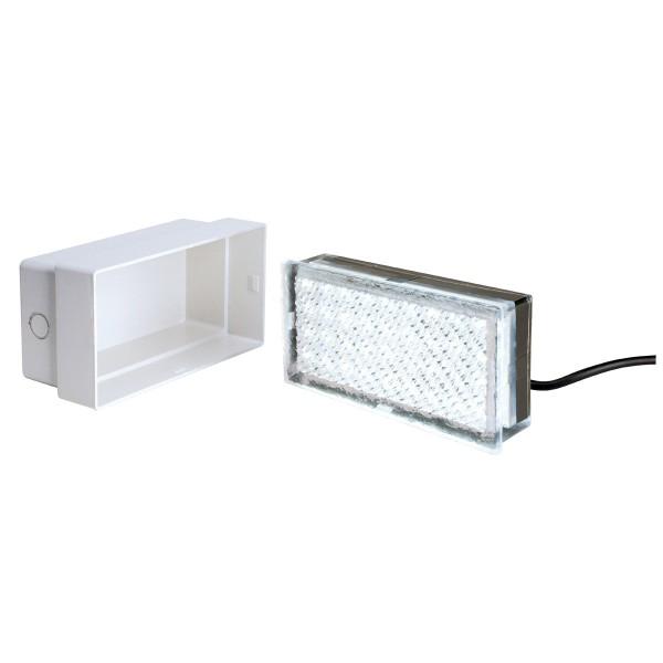 LED FLIESE, Bodeneinbauleuchte, LED, 6500K, IP67, L/B/H 20/10/4 cm, 3,5W
