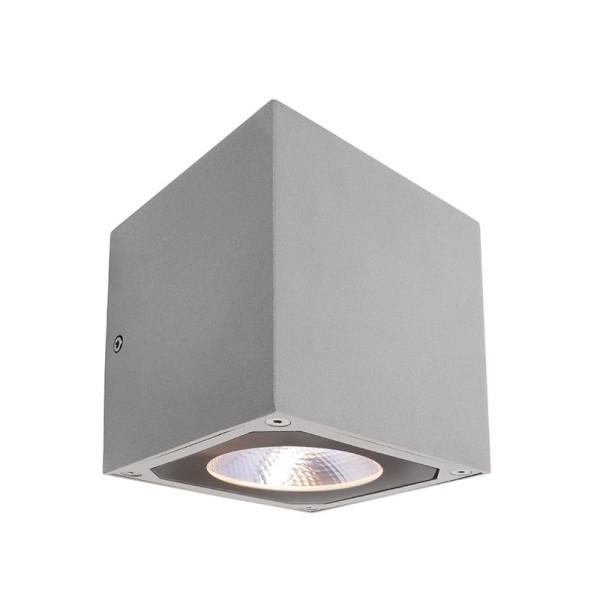 Deko-Light Wandaufbauleuchte, Cubodo II Single SG, Aluminium Druckguss, silberfarben, Warmweiß, 19°