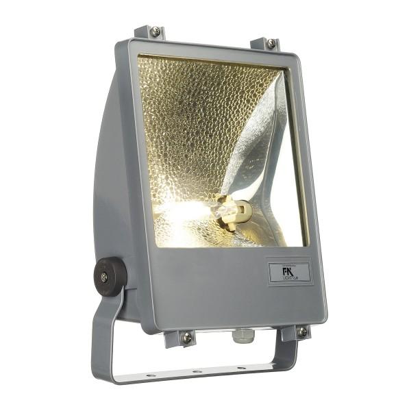 SXL HIT-DE STRAHLER, Outdoor Strahler, HIT-DE, IP65, silbergrau, max. 150W