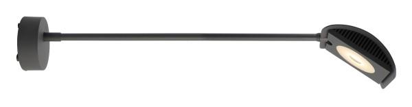 Deko-Light Displayleuchte, Atis II, Aluminium Druckguss, dunkelgrau, Warmweiß, 100°, 15W, 230V