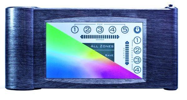 Wireless Controller, RGB Funkcontroller, 32.000 Farben, 5 Zonen, 4 Programme, Dimmerprogramm, Gesc