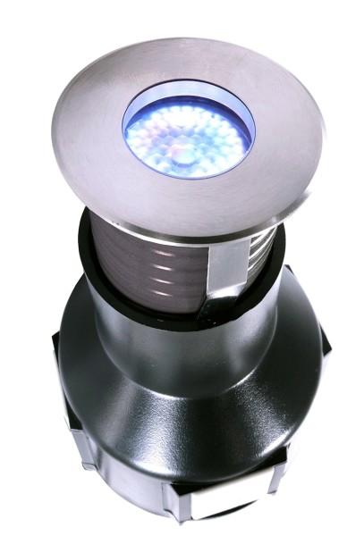 LED Bodeneinbauleuchte, 1x3 W, kaltweiß, rund