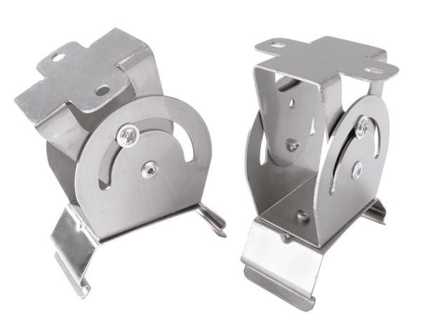 Deko-Light Zubehör, Aufbaumontagehalter für Leuchte Tri Proof 2 Stk., Metall, Silber-grau
