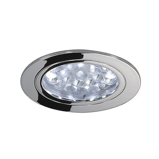 Deckeneinbauleuchte, DL 123 LED, rund, chrom, 24LED, weiss