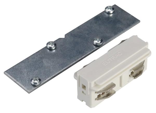 LÄNGSVERBINDER, für EUTRAC Hochvolt 3Phasen-Einbauschiene, elektrisch/mechanisch, weiß