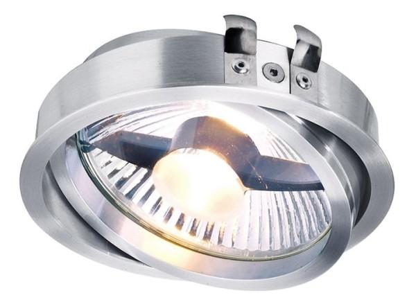 Kapego Deckeneinbauleuchte, Epart Einsatz ESA, exklusive Leuchtmittel, Silber, gebürstet