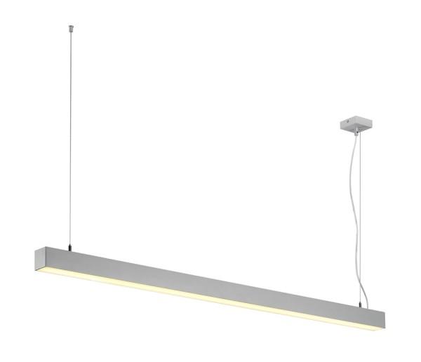 Q-LINE, Pendelleuchte, einflammig, LED, 3000K, silber, 2x18,2W und 1x7,5W