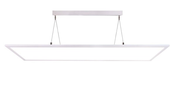 Deko-Light Pendelleuchte, LED Panel transparent, Aluminium, weiß, Neutralweiß, 155°, 50W, 230V