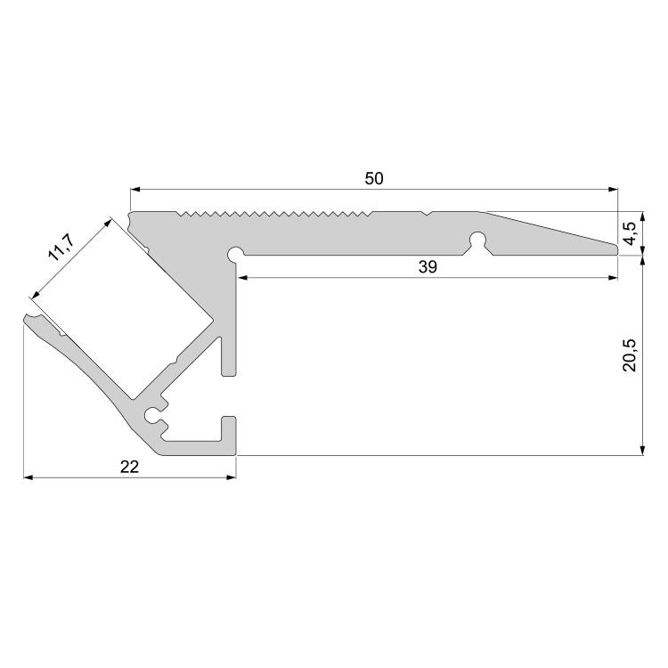 20 Reprofil Abdeckung Linse L-01-10 aus Kunststoff in klar mit 95/% Transmission