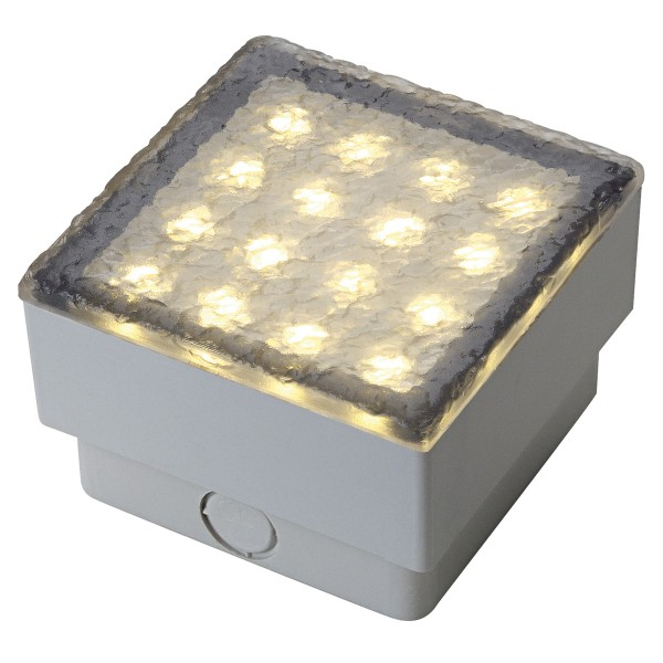 LED STEIN, Bodeneinbauleuchte, LED, 3000K, IP67, L/B 10/10 cm, 3W