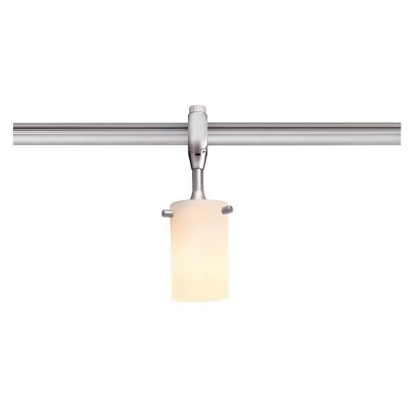 SWIFTEC, Leuchtenkopf für Hochvolt-Stromschiene EASYTEC II, QT14, silbergrau, Glas satiniert