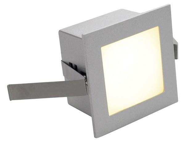 FRAME BASIC, Einbauleuchte, LED, 3000K, eckig, silbergrau, inkl. Blattfedern