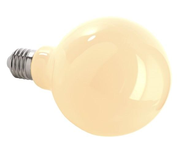 Deko-Light Leuchtmittel, Filament E27 G95 2700K milchig, Glas, Warmweiß, 300°, 4W, 230V, 11mA, 140mm