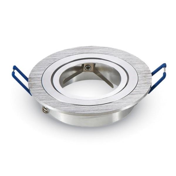 Einbauleuchte JUST RIM R1 für GU10 Sockel, rund, aluminium gebürstet, max. 35W, inkl. Clipfedern