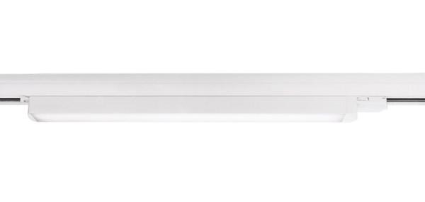 Deko-Light Schienensystem 3-Phasen 230V, Linear 60, Aluminium, weiß mattiert, Neutralweiß, 110°, 19W