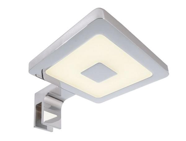 Deko-Light Möbelaufbauleuchte, Spiegel Eckig II, Aluminium, silberfarben Chrom, Warmweiß, 120°, 4W