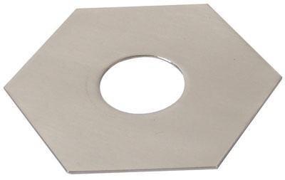 Hexa-Platte für Light Point matt-silber.