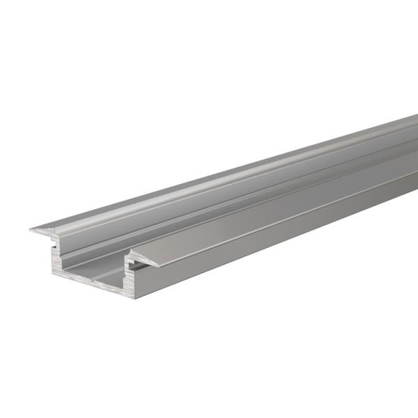 Reprofil, T-Profil flach ET-01-10 für LED Stripes bis 11,3 mm, Silber-matt, eloxiert, 2000 mm