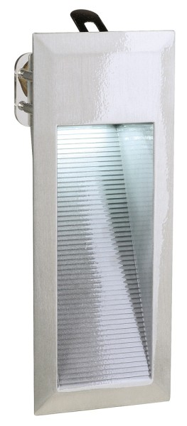 DOWNUNDER 15, Outdoor Wandleuchte, LED, 6500K, IP44, aluminium gebürstet, 0,9W