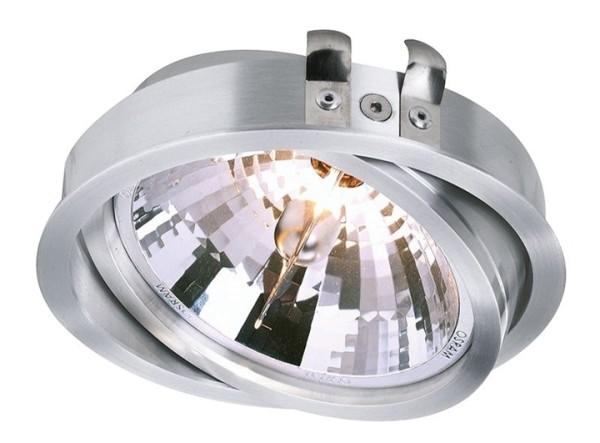 Kapego Deckeneinbauleuchte, Epart Einsatz AR 111, exklusive Leuchtmittel, Silber, gebürstet