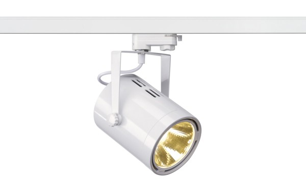 EURO SPOT, Spot für Hochvolt-Stromschiene 3Phasen, LED, 3000K, rund, weiß, H/Ø 22,1/12,5 cm, 36°