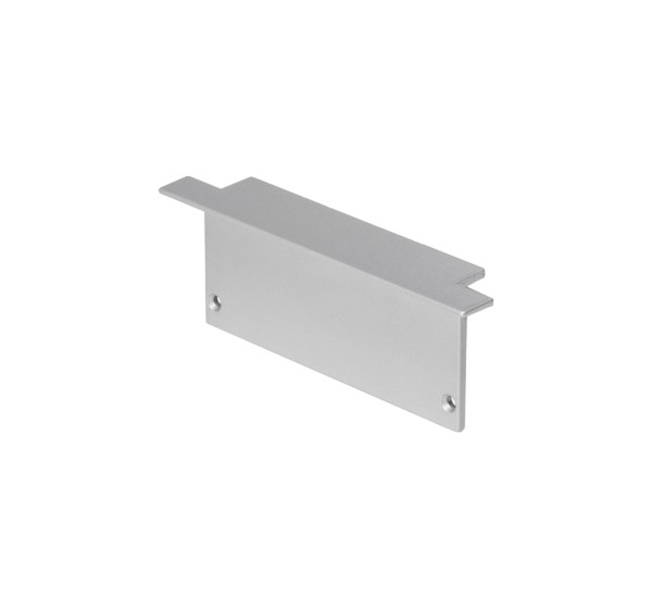 ENDKAPPEN, für GLENOS Profi-Einbau-Profil 8832, silber, 2 Stück