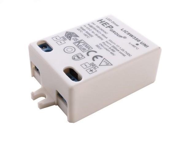 HEP Netzgerät, LIC9W350 UNI, Kunststoff, Weiß, 9W, 17-25V, 350mA, 58x39mm
