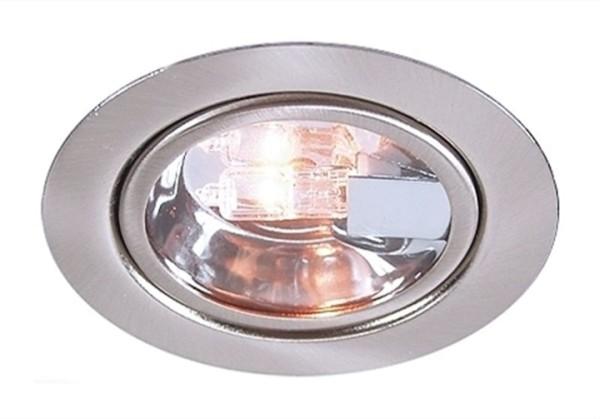 Kapego Möbeleinbauleuchte, inklusive Leuchtmittel, Silber, Warmweiß, spannungskonstant, 12V AC/DC