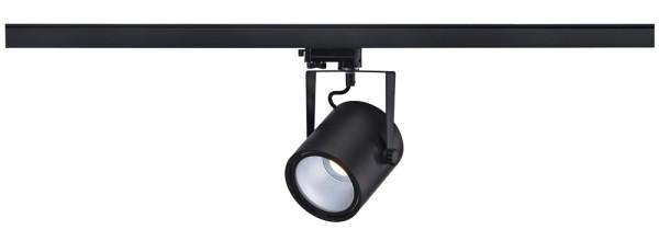EURO SPOT LED DISK 800, Spot für Hochvolt-Stromschiene 3Phasen, LED, 4000K, rund, schwarz, 60°