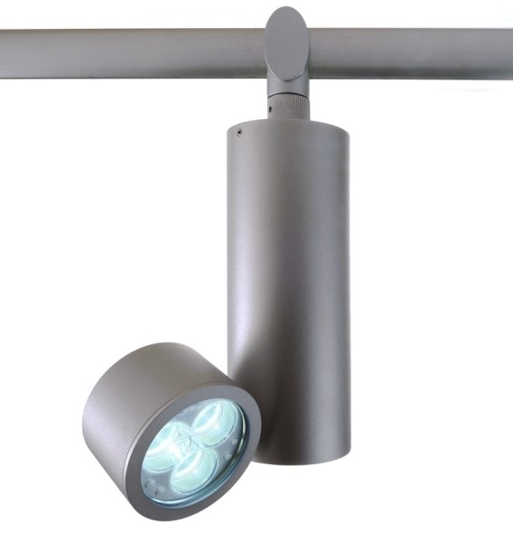 One HV-System, Spot Uno 3x3W Power LED , satin