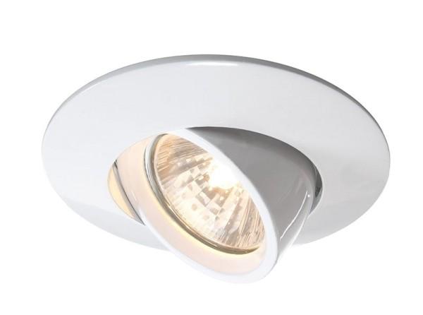 Deko-Light Deckeneinbauring, Aluminium Druckguss, weiß, 50W, 12V