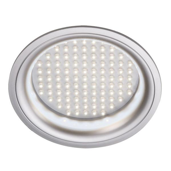 LED PANEL, Einbauleuchte, LED, 6500K, rund, silbergrau, 8W