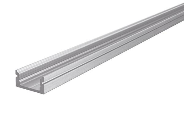 Reprofil Profil, U-Profil flach AU-01-08, Aluminium, Silber gebürstet, 2000mm