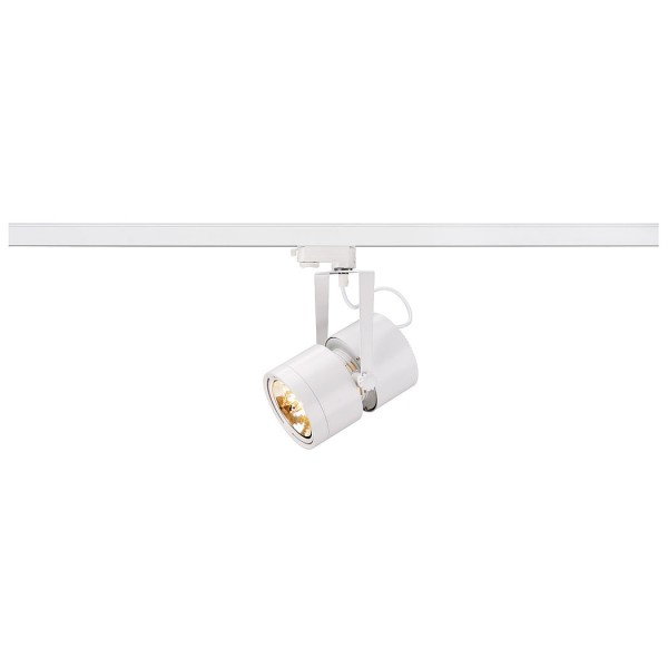 EURO SPOT QRB111, weiss, max. 75W, inkl. 3P.-Adapter