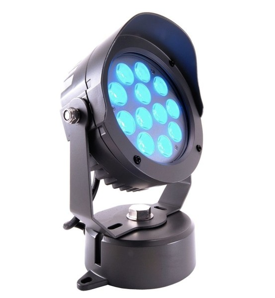 Deko-Light Boden- / Wand- / Deckenleuchte, Power Spot VI RGB, Aluminium Druckguss, anthrazit, RGB