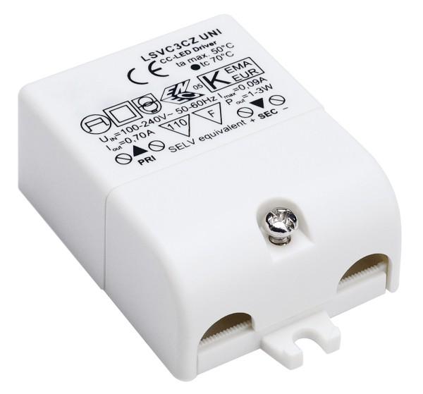 LED-TREIBER, 3W, 700mA, inkl. Zugentlastung
