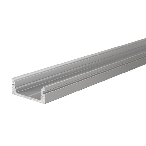 Reprofil, U-Profil flach AU-01-12 für LED Stripes bis 13,3 mm, Silber-matt, eloxiert, 2000 mm