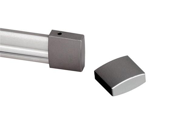 ENDKAPPEN, für Hochvolt-Stromschiene EASYTEC II, 2 Stück, silbergrau