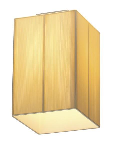 LASSON, Deckenleuchte, A60, eckig, beige, L/B/H 20/20/33 cm, max. 40W