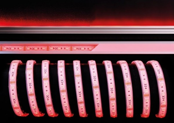 Deko-Light Flexibler LED Stripe, 5050-60-24V-RGB-5m-Silikon, Kupfer, Weiß, RGB, 120°, 60W, 24V