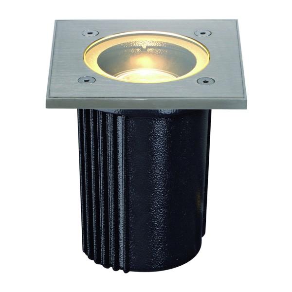 DASAR EXACT, Outdoor Bodeneinbauleuchte, QR-CBC51, IP67, eckig, edelstahl 316 gebürstet, max. 35W