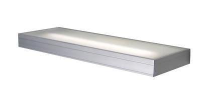 Wandleuchte Shelf, 21 Watt alu-eloxiert, mit Ein/Aus Schalter, 230V, T5, 21W, inkl. Leuchtmittel, in