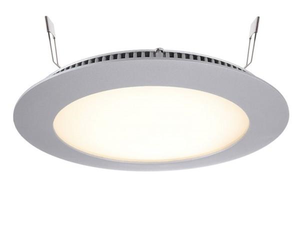 Deko-Light Deckeneinbauleuchte, LED Panel 12, Aluminium Druckguss, silberfarben, Warmweiß, 115°, 9W