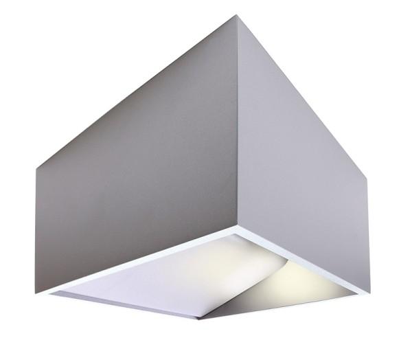 Deko-Light Wandaufbauleuchte, Dado, Aluminium, silberfarben matt, Warmweiß, 140 °, 5W, 230V, 480mA