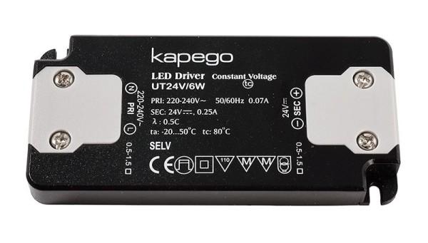 Deko-Light Netzgerät, FLAT, UT24V/6W, Kunststoff, Schwarz, 6W, 24V, 98x46mm
