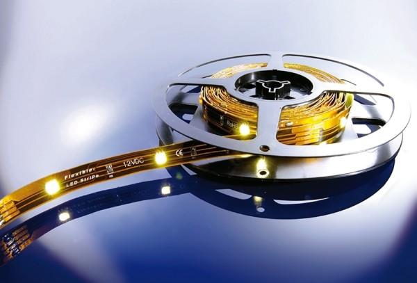 Flexibler LED Stripe, 5050, SMD, Warmweiß, 12V DC, 21,60 W
